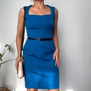 Banana Republic Blue Fitted Dress